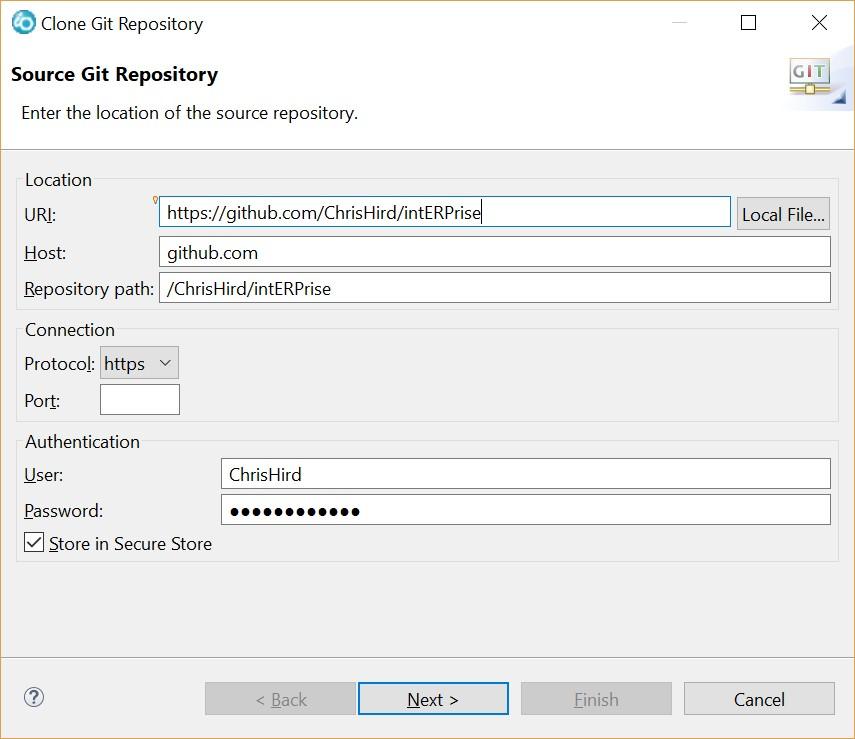 Clone repository dialogue 1